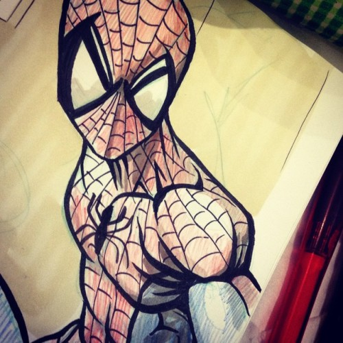 Practicin' inks :) #Spidey!!