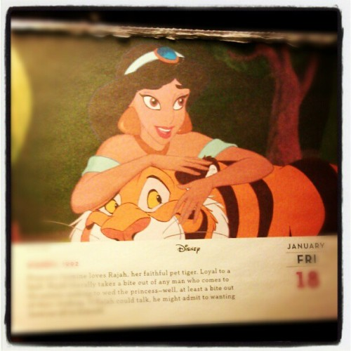 Todays picture on my Disney one a day calendar #Aladdin #princessjasmine #rajah #myfavorite #Disney