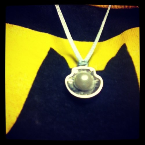 Necklace my boyfriend got for Alanna to give me :) (it was one of the necklace card combos) plus flowers#happymothersday