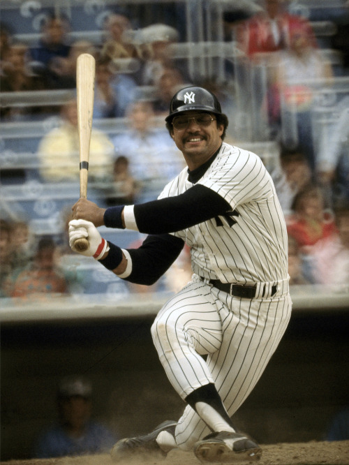 mightyflynn:  Reggie Jackson April 18, 1977 Yankee Stadium Bronx, New York Photo by Neil Leifer