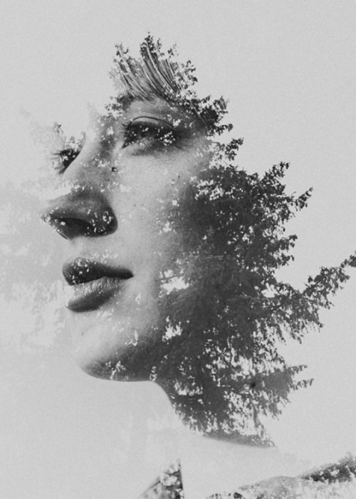 thekhooll:  Double Exposure Goodness Sara K Byrne is definitely one of those talented few able to create beautiful photographic magic by tastefully combining photos