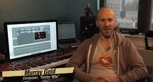 "doctorwho:  MTV Geek: Behind The Scenes With 'Doctor Who' Composer Murray Gold via mtvgeek:  We visited ""Doctor Who"" composer Murray Gold in his New York studio to discuss his work on the series since it was relaunched in 2005 under producer Russel T. Davies and Doctor Christopher Eccleston. Gold has since worked on every season of the show, changing the music to fit the personalities of each new Doctor.   *swoon"