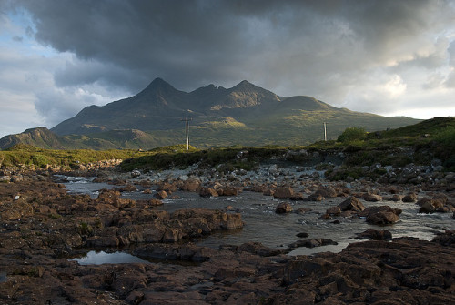 River Sligachan and the Black Cuillin by Buster Bakewell on Flickr.