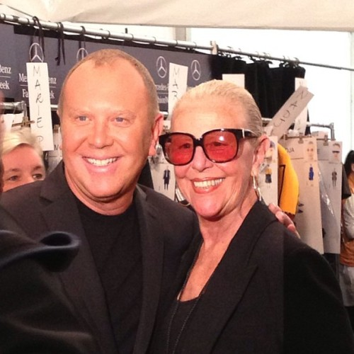 Michael Kors and Mama Kors backstage before the Fall 2013 show. #NYFW #MBFW @michaelkors