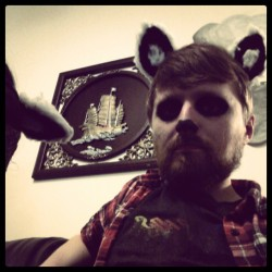 I've been turned into a furry kiss tribute band member (at Crookes Valley Park)