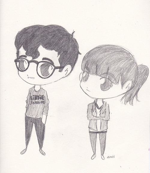 Graphic We Love: Jack and Rachel Antonoff Sketched by a fan of the Antonoff brother/sister duo, Anis admits to drawing this during her history class. Designer Rachel Antonoff, known for her highly creative Fashion Week presentations celebrated her brother's first Grammy this year as the guitarist for Fun. Count 'em, six nominations, too! Keep your eyes on these two siblings — many more things to come. (Image: Courtesy of Anis. Text by Jauretsi)