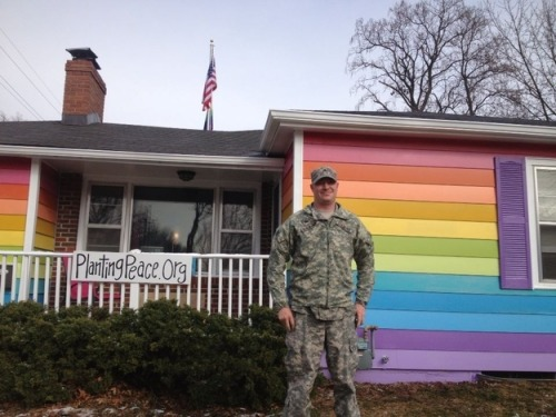 buzzfeedlgbt:  Someone Bought The House Next To The Westboro Baptist Church…And Painted It Rainbow.