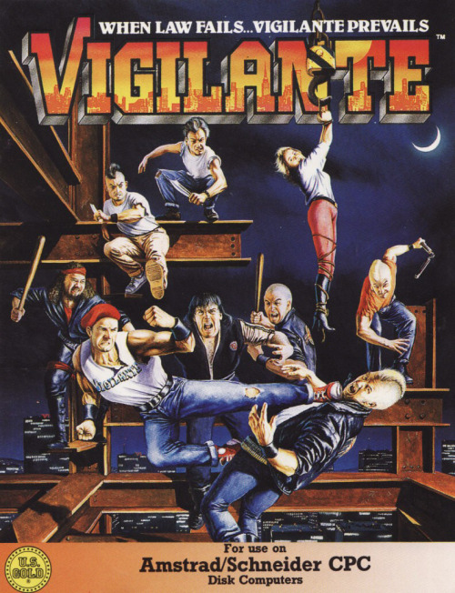 Vigilante ad for the Amstrad CPC port. There are many things I love about this illustration. Reminds me a little of this one.