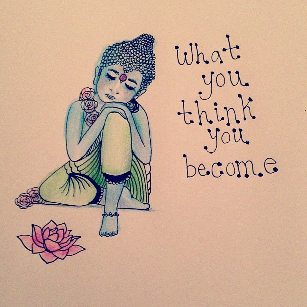 stellablu:  tiny buddha drawings