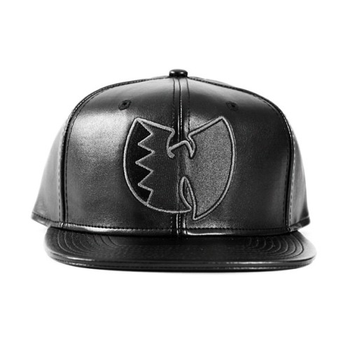 rocksmith:  All black everything. #Wutang black leather strapback. Part of this spring's leather #strapback series. #wutangbrand #rocksmith in stores soon. #veryrare (at Rocksmith Flagship Store)