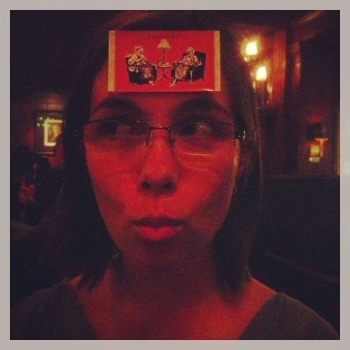 Omg!!! Look at my card on this awesome girls face!! Absolutely deadly! :D