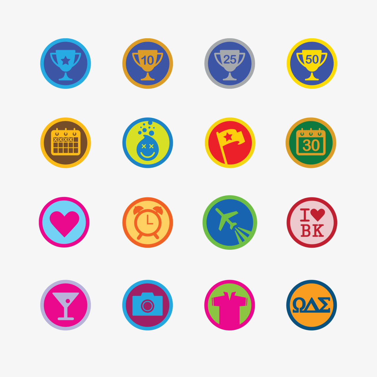 Portfolio: Foursquare badge design