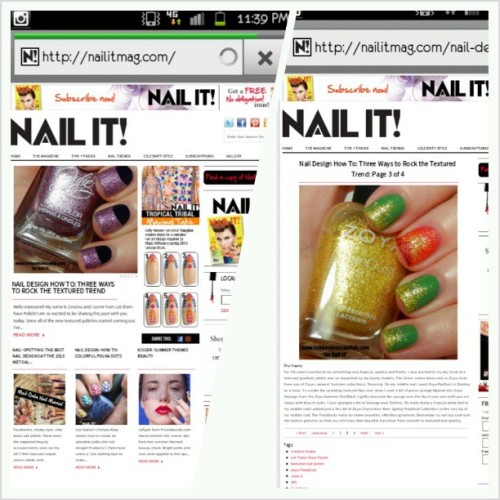"Head over to @nailitmag nailitmag.com to check out a guest post from yours truly. I created Three looks that incorporate the texture trend into everyday looks. Featured is a ""The Flashy"" look I did all in @zoyanailpolish . Head on over to see the other Two looks I created for nailitmag.com #officialletthemhavepolish #nailitmagazine #nailitmag #nails #nailartdesign #nailart #nailcolor #cflbeautyblogger #nofilter"