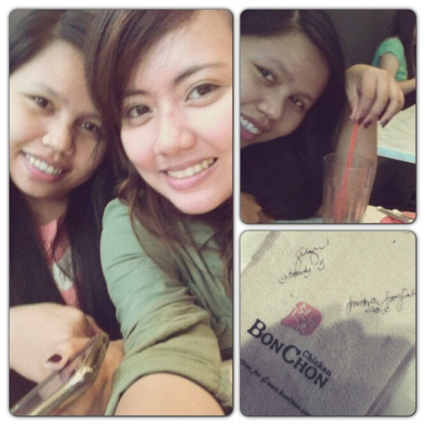 Bonchon with @gondydacayanan she's back!! ✌🍗🍖🍴😍