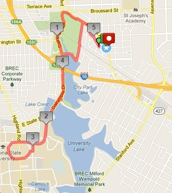 Parade Grounds 5 Mile loop from VSBR