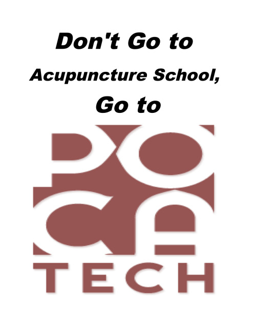 Acupuncture education has become prohibitively expensive. WATCH video. It does not have to be that way at all. We are building an affordable route for acupuncture education; it's called POCAtech Help us build our school: Donate to POCAtech Now!