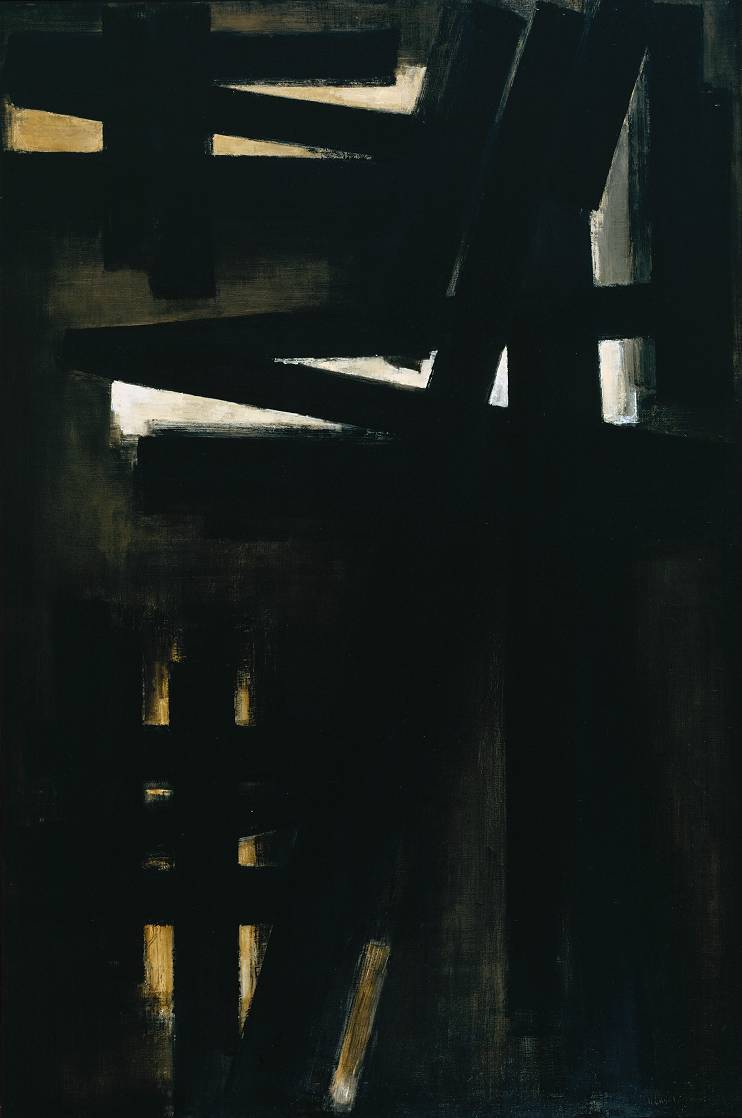 nearlya:  Pierre Soulages, Painting 23rd May, 1953, 1953, oil on canvas