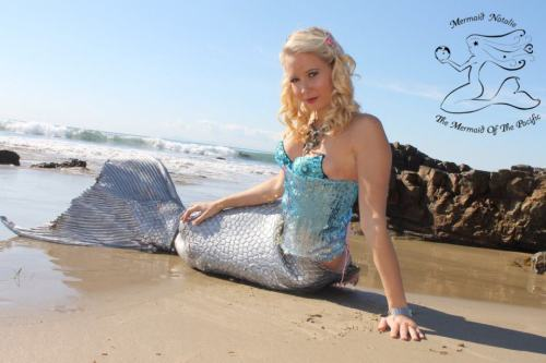 Mermaid Natalie at the SoCal Coast