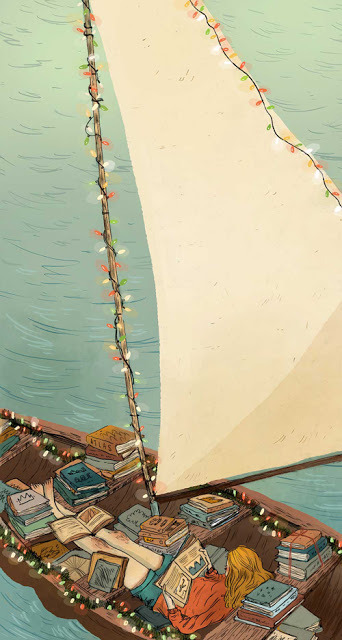 """ Boatloads of Books ""  ….  Illustrator:  Natalie Andrewson  illustratedladies:  Natalie In the Wild"