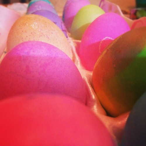 Happy Easter!! #eggs #easter #family #familytime #mysaturday