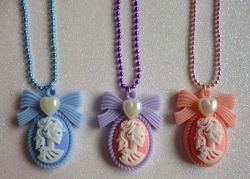 Skeleton lady cameo necklaces! http://calamityjaynedesigns.bigcartel.com/