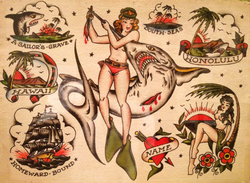 humanswithtattoos:  Sailor Jerry