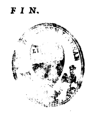 Partial library stamp. From p. 447 of L'Art de se Connoître Soy-Même ou la Recherche des Sources de la Morale by Jacques Abbadie (1701). Original from University of Lausanne. Digitized September 4, 2008.