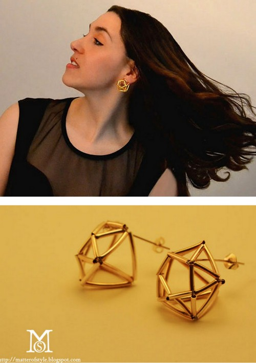 truebluemeandyou:  DIY Huge Geometric Diamond Earrings Tutorial and Template from A Matter of Style for Style.it here. This uses tube beads cut in half. I translated it from Italian to English using Chrome.