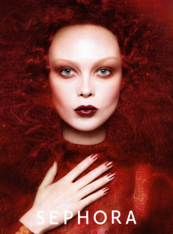Siri Tollerød by David Sims for Sephora F/W 2012-13 Colorvision campaign.