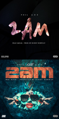 "PHIL ADE ""2 AM ft. BUN-B""SINGLE_COVER_ARTWORK. (2013)*Tool : Adobe Photoshop & After Effect CS 3"