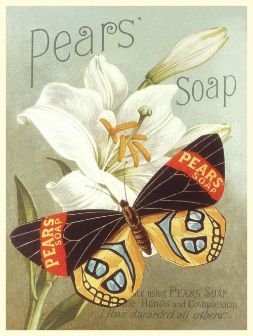 Lovely postcard with vintage poster print from Pears Soap …