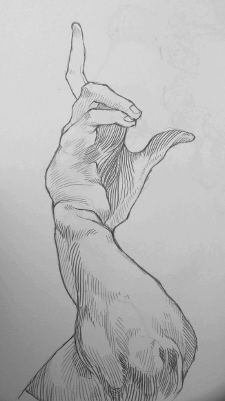 psychicdisco:  This arm was supporting a head But cbf to draw that I was too enamoured with the lush elbowage