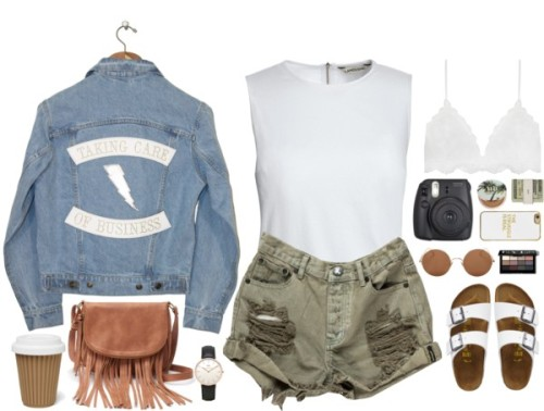 polyvore fashion style Canvas by Lands& 039; End Understated Leather TravelSmith Apt. 9 Daniel Wellington BaubleBar Sunday Somewhere Bobbi Brown Cosmetics Urban Decay Jack Spade clothing