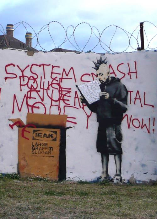 modernstreetart:  One of my favorites by Banksy