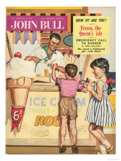 Today I want a vintage ice cream… picture from  John Bull, Holiday Ice-Cream Magazine, UK, 1950