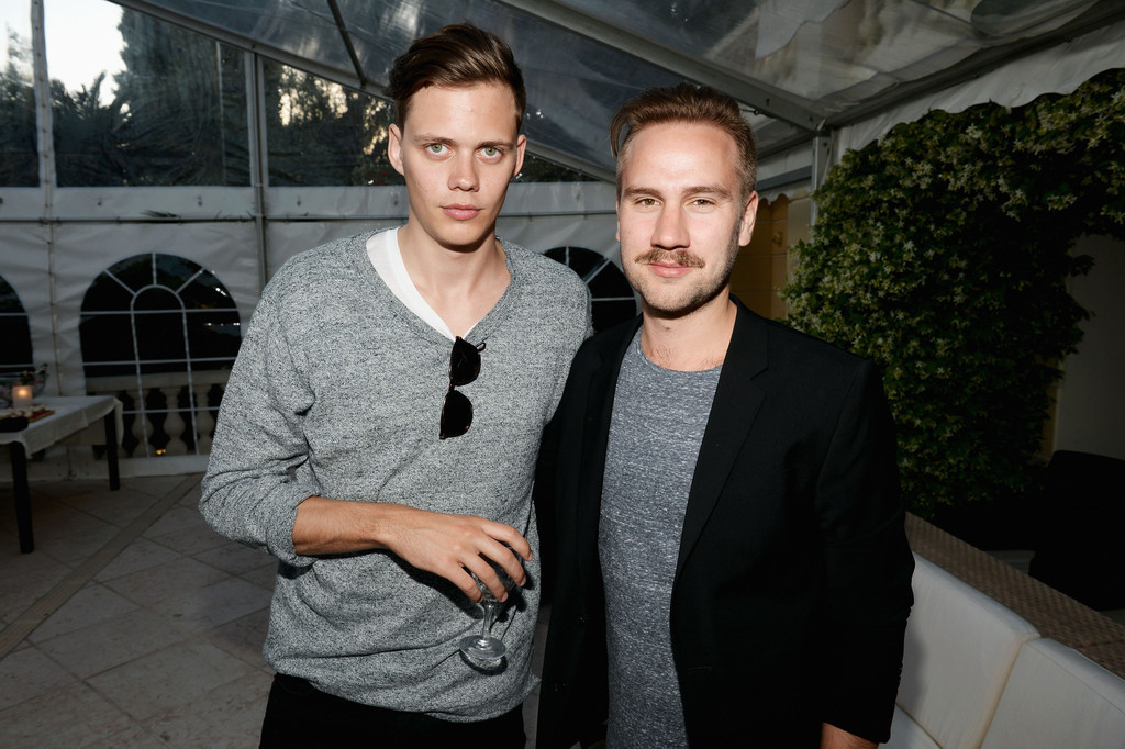 Bill Skarsgard and Simple Simon director Andreas Öhman attend a benefit held by Mammoth Entertainment and LyonHeartLove Foundation to protect illegally poached African Rhino at Villa L'Albri on May 17, 2013 in Cannes, France.