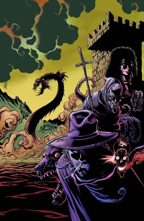 "Market Monday Billy the Kid's Old Timey Oddities and the Orm of Loch Ness #3, co-written by Tracy Marsh  With his deformed allies in dire straits, Billy escapes to the edge of Loch Ness and battles the Mormon brides of Dracula! ""Peppered with the humor and fantastic art that the reader has come to expect from the previous two [series], this is a page turner full of chills and excitement.""-The Outhouse  ~Preview~"