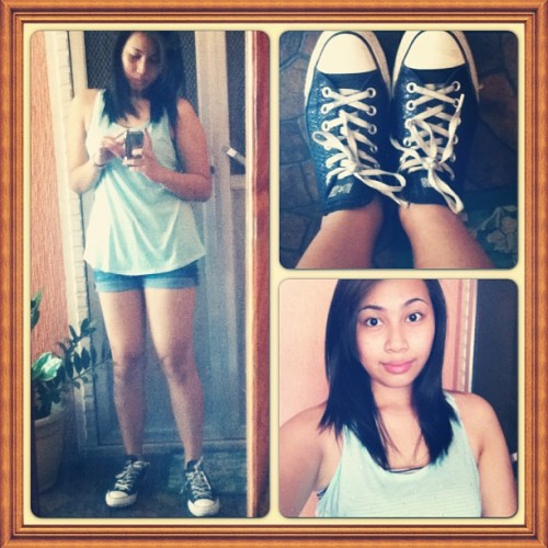 Going out! #ootd #converse #tanktop #shorts #summer2013 #me #simplyme #simple #natural #happy #smile #instagood #instamood #instaframes #ig #igdaily #igers