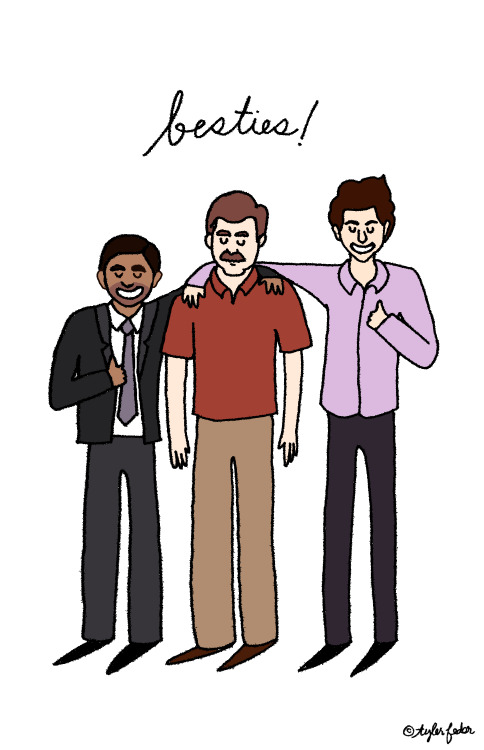 Parks and Rec besties, as requested by glitterpenises! (by Tyler Feder)