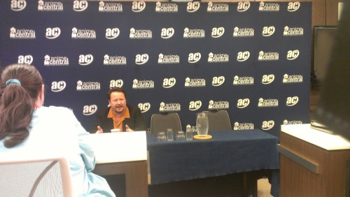 Press session at Anime Central with Sonny Strait.