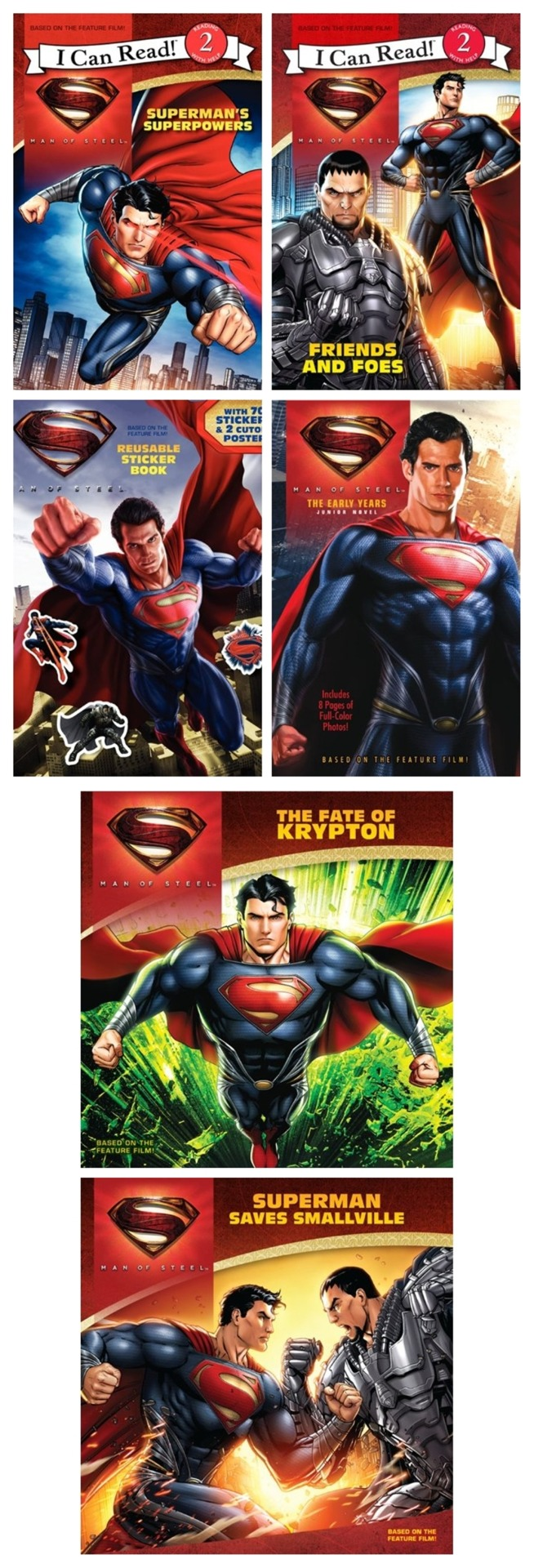 Upcoming Superman Man of Steel Titles For Young Readers.