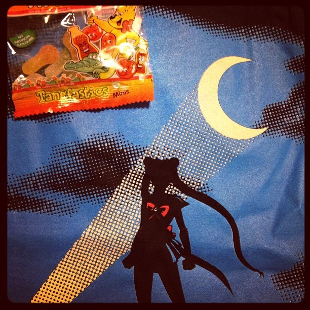 Did anyone else order this shirt from #qwertee and receive candy with it also? XD #sailormoon