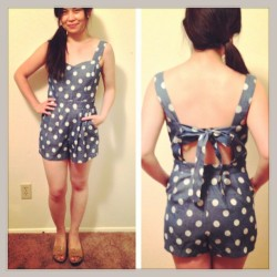 It was an itsy bitsy teeny weeny #Chambray #polkadot #romper! On sale at my @poshmarkapp closet, username: myfashionjuice @poshmark