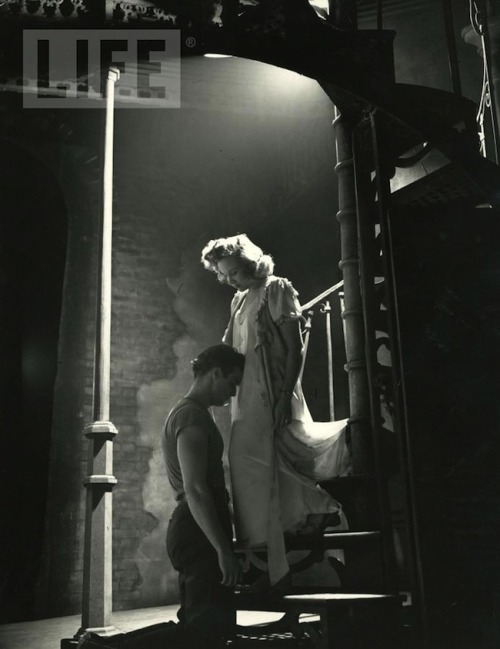 Marlon Brando and Kim Hunter A Streetcar Named Desire [1951] I think this pic is from the play though.