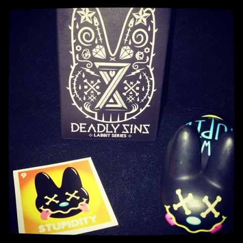 mattsensible:  My new Deadly Sins Smorkin' Labbit is the best thing about today. #labbit #deadlysins #stupidity