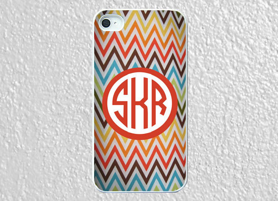 Monogram iphone 5 case plastic colored chevron by worthymonogram on We Heart It - http://weheartit.com/entry/52958463/via/WorthyCases