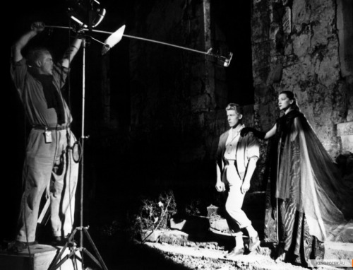 "lottereinigerforever:  On the set of ""Orphée"""