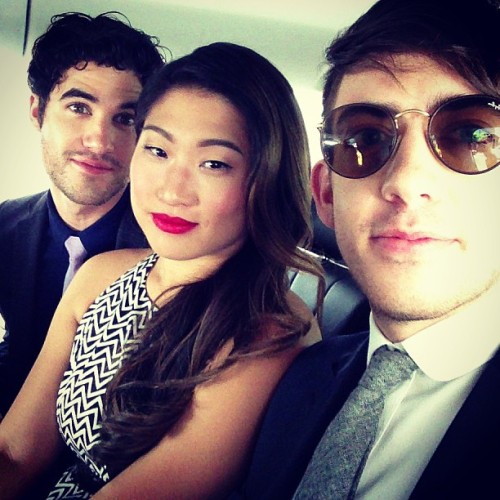 sickofmyownvoice:  Reunited and it feels so gooood! #foxupfronts2013 @jennaushkowitz @darrencriss