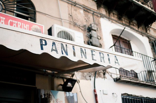 | ♕ |  Panineria/sandwich shop in Palermo  | by © Joe Boyle
