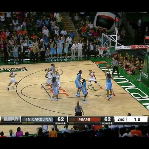My cousin, Danielle Butts, hit the game winning shot at the buzzer! She pulled in 7 points and as a guard she grabbed 11 rebounds! SHE GOT GAME!! Its hereditary…Lolll!!! On a serious note, she is truly a fighter. After making a turnover, she shook it off and kept fighting. That's the key to life, shake it off, keep on fighting and stay ready for GOD to pass you that winning opportunity! #PutGODFirst #Blessed #NeverGiveUp #Winning #10 #Ballin #UNC #Tarheels